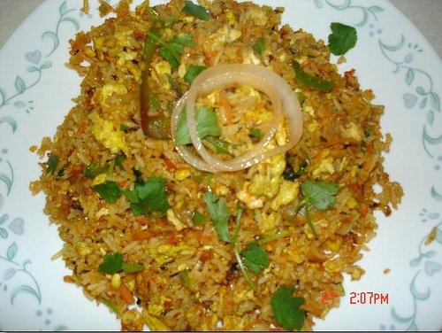 Biryani is a rice and meat dish.