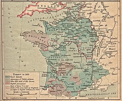 France in 1453