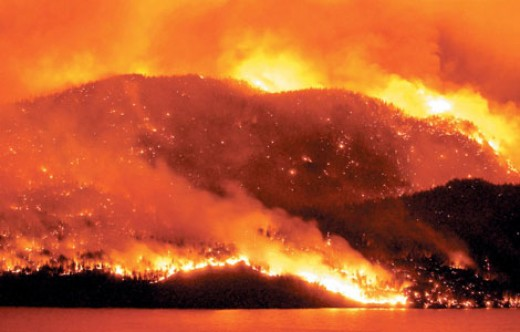 The recent Okanagan Lake fire may be just a mere precursor to a massive fire that could engulf most of British Columbia
