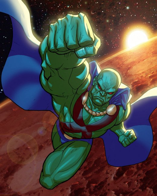 Martian Manhunter is more Powerful than Superman