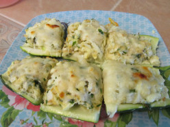 Stuffed Zucchini with Mozzarella Cheese