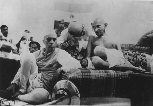 M.K Gandhi and Nehru (1942)