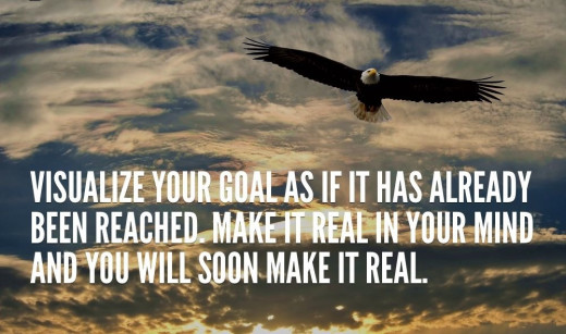Dream big and visualize your goal like an eagle