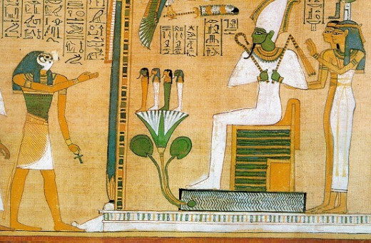 Meeting Osiris after weighing of the heart ceremony.