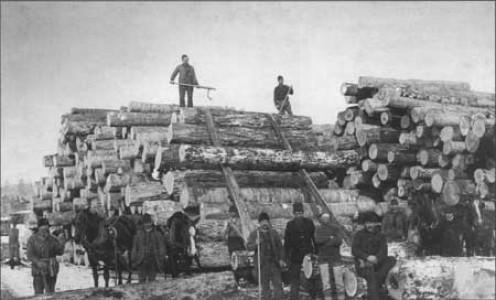 Another huge step toward progress was the development of the logging industry.