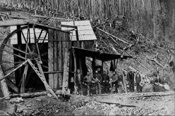Homes were made from old, deserted buildings including this old copper mine.