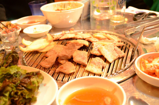 Samgyeopsal can get any one excited for juicy, tasty, and complete grilled pork experience.