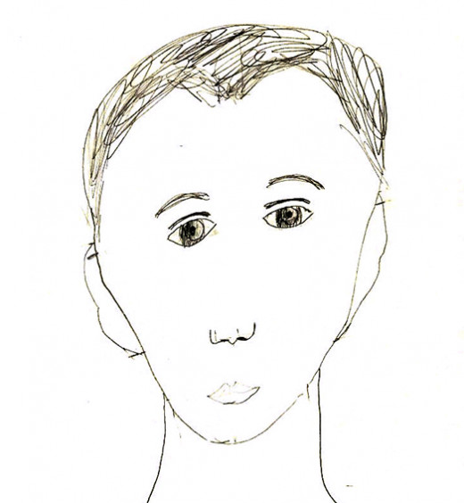 My son's self-portrait at age 11.