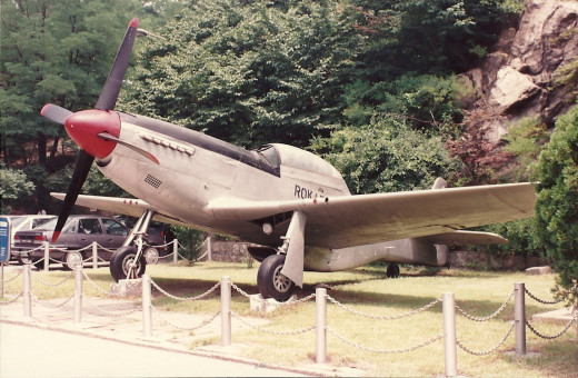 A Republic of Korea Air Force, F-86 Sabre, Korean Freedom League, Seoul 1985.