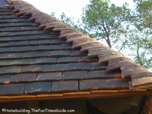 This is an example of an aged look to the roof.