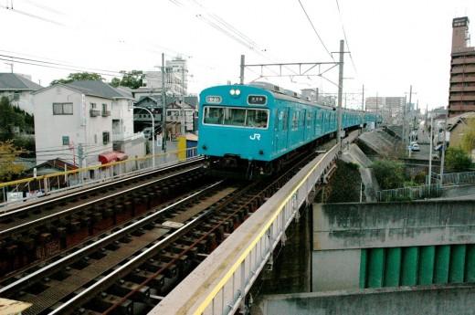 JR Train Asaka Station Osaka Japan