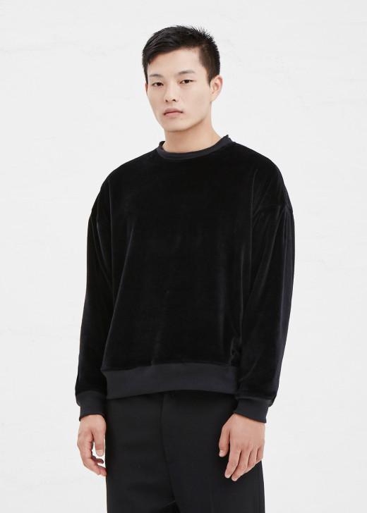 Haider Ackermermann Velvet Sweatshirt