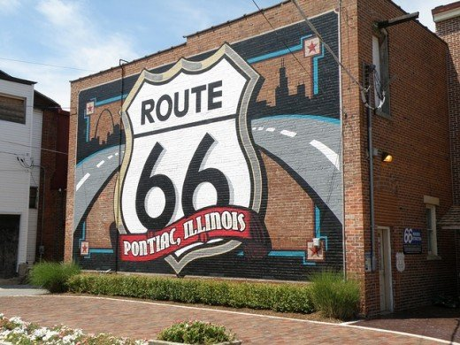 The famous Route 66 runs right through Chicago, Illinois.
