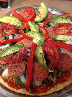 Healthy Pizza Recipe with Whole Wheat Pizza Crust, Ground Turkey & Avocado