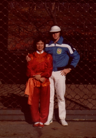 Here I am in 1980, posing with my friend, Chang Tien Chun, a movie star in Taiwan.