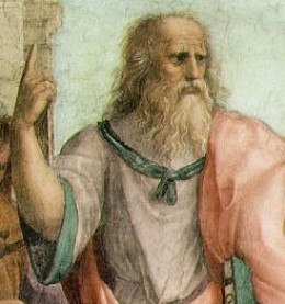 Image of Plato from the 'School of Athens' Fresco, Raphael, 1509