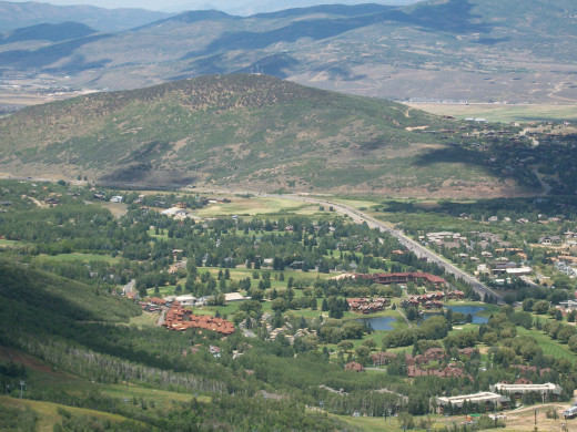 View of Park City, Utah from a chairlift.  Part of America the Beautiful