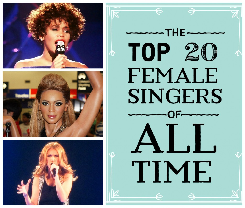 top 10 most popular female singers of all time