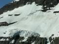 Close-up of a glacier.
