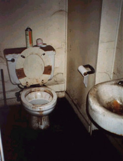 Not a set on a horror movie, but a filthy restroom.
