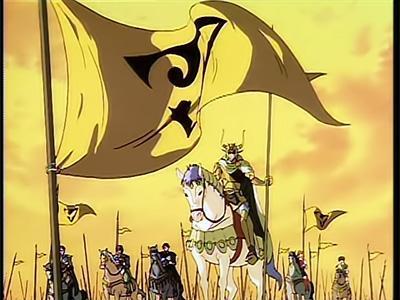 Prince Arslan leads troops into battle.