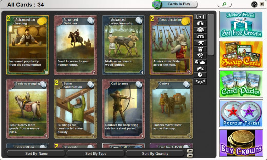 Stronghold Kingdom Game Cards