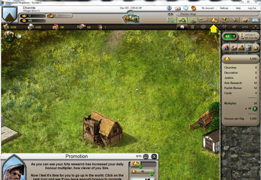 Stronghold Kingdoms in-game Tutorial