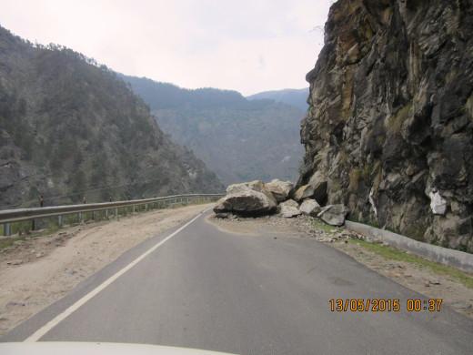minor landslide
