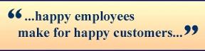 Happy Staff = Happy Customers