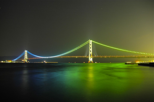 Akashi Bridge Maiko Hyogo Japan