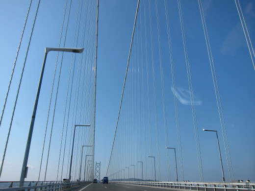 Akashi Bridge Toll Road Hyogo Japan