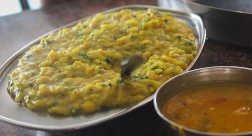 Dal Khichdi is served