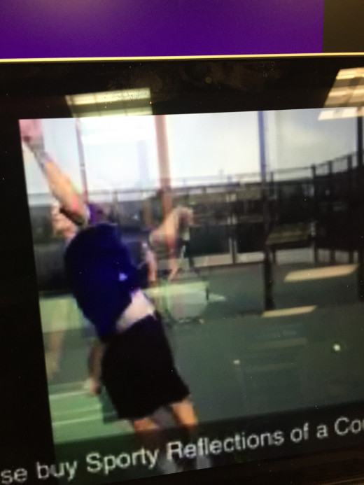 Here is a split-frame snapshot of me serving a semi-professional tennis serve in 2012, at the age of 41.