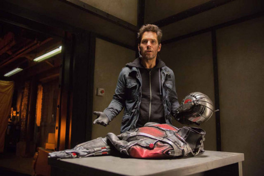 Scott Lang with the Ant Man Costume
