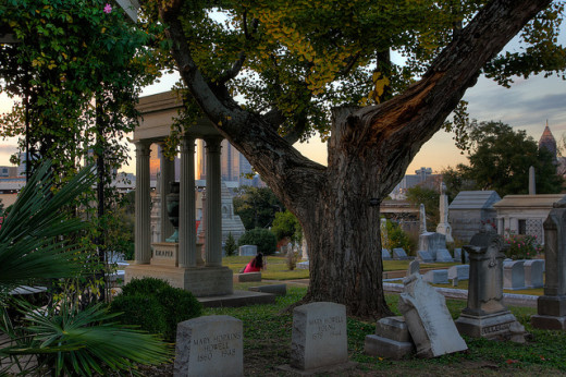 The Oakland Cemetery in Atlanta, Georgia.