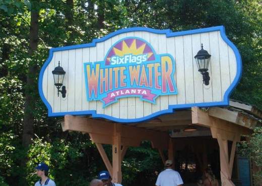 The white water dive-in at Six Flags.