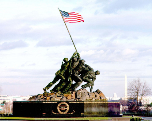 Our soldiers fought to make sure that our flag waved high on the battle field in Iwo Jima