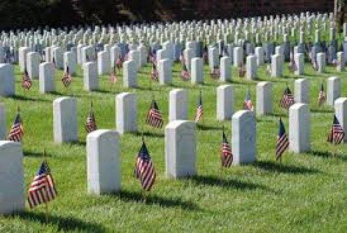 Our American soldiers buried in one of hundreds of military cemeteries throughout the United States and the world, where we helped to defend what was right.