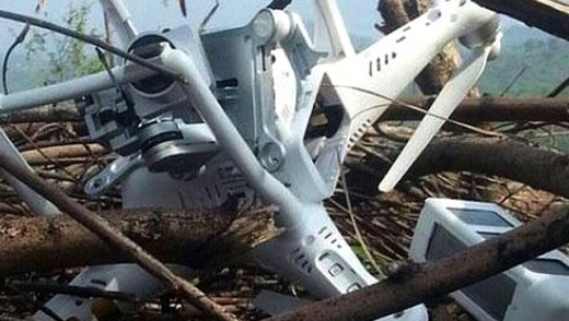 This Chinese drone was shot down on Pakistan occupied Kashmir by Pakisatani soldiers who falsely alleged that it was India spy-drone which crossed the border.