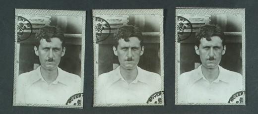 Photos of Eric Blair taken from his Metropolitan Police file