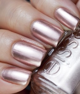 This is the perfect example of a metallic color!
