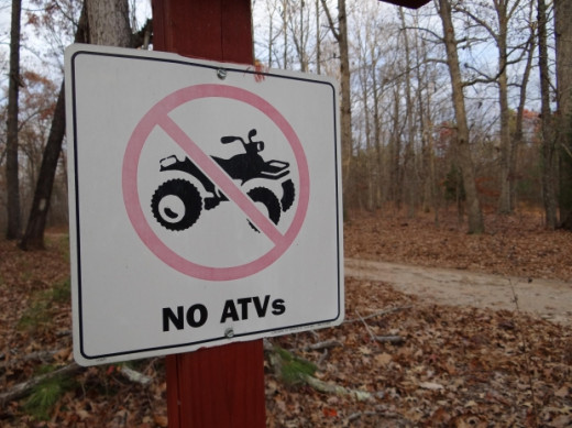 Sign About No ATVs