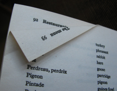 A dog-eared page