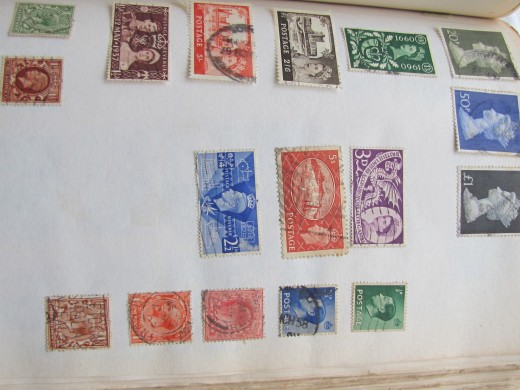 A page from my stamp album- old England stamps
