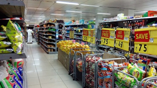 Specific stores such as this supermarket often have credit cards designed primarily for shopping at those places.