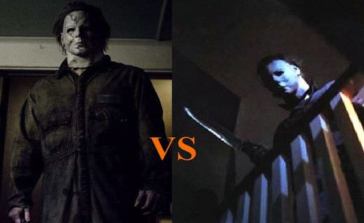 Remake and original versions of Michael Myers.