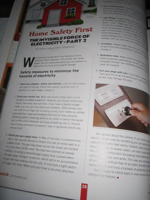 My column Home Safety First with Enrich Magazine