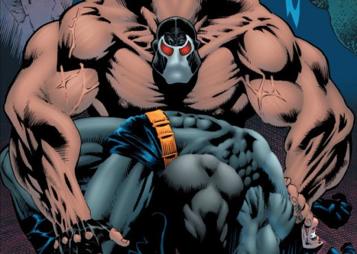 Bane brokes Batman's spine