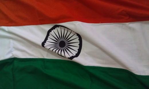 Indian National Flag ByJpoonnolly [CC-BY-SA-3.0-migrated (http://creativecommons.org/licenses/by-sa/3.0/)], via Wikimedia Commons