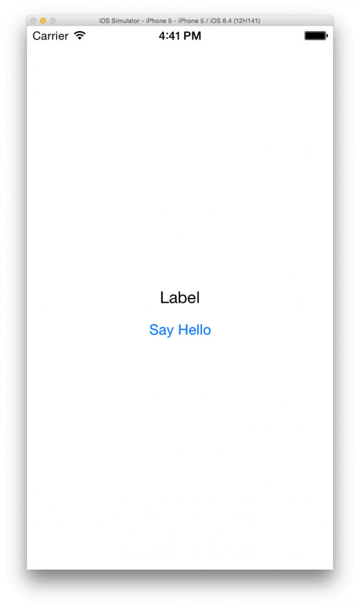 Your very first iOS app!